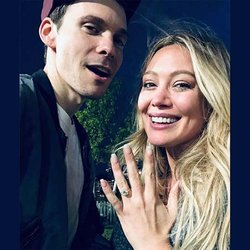 Hilary Duff Shows Off Her New Cushion-Cut Diamond Engagement Ring on Instagram