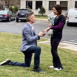 Chicago-Area Nurse Takes Break from Heroic Work to Accept Marriage Proposal